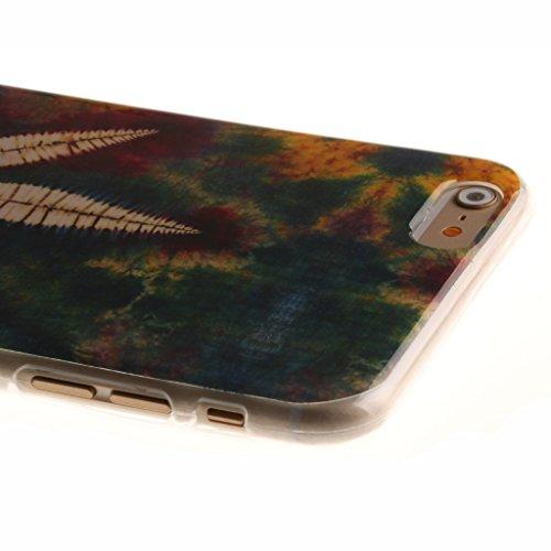 """iPhone 6 Plus Coque, SsHhUu [Milky Way] Ultra Slim Doux TPU Flexible Durable Gel Silicone Protecteur Rear Skin Painting Art Étui Housse Case Cover pour Apple iphone 6s Plus and iphone 6 Plus (5.5"""") Leaf"""