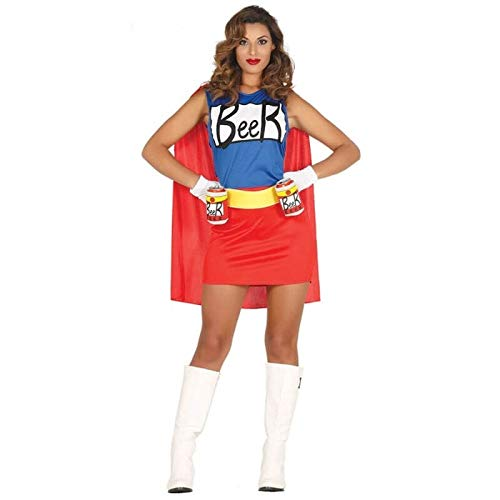Costume vestito abito travestimento carnevale adulto donna duff - beer woman - taglia m (38-40)