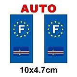 Autocollant plaque immatriculation drapeau cap vert Auto
