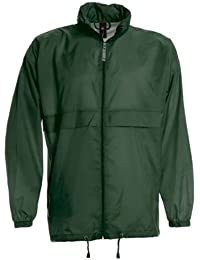 Zipper-coupe-vent-couleur :  green bottle 'sirocco'- taille xXL :  green bottle, xXL