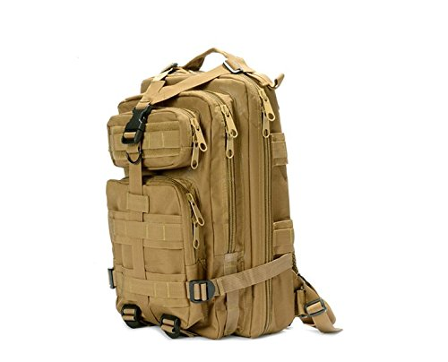 Outdoor camouflage Rucksack Doppel Schulter wandern Tasche Rucksack, schwarz Khaki