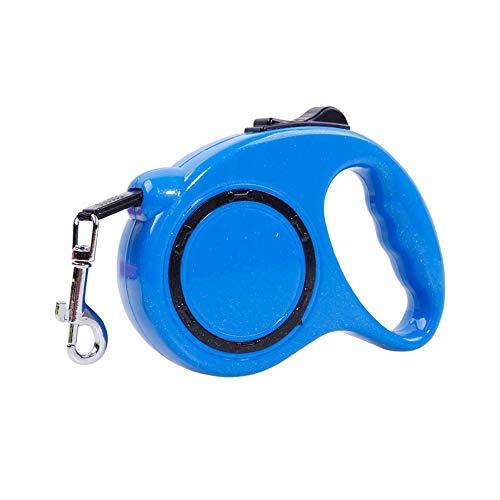 Trifycore Tragbarer einziehbare Hundeleine Durable Hund zu Fuß Seil Nylonschnur Leine Reflexband Stretch Knopf Blau (3m), Produkte für ()