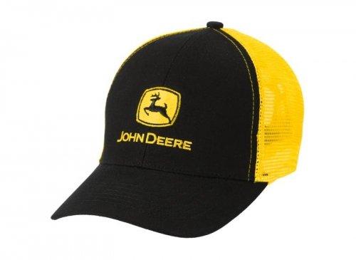 Mathe-cap (John Deere Cap Mesh Classic Schwarz, Gelb)