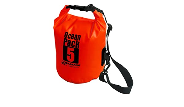 efcfb006633 Karana Ocean Dry Pack Day Waterproof Travel Kayak Bag 5 Litre 5L Red   Amazon.co.uk  Clothing