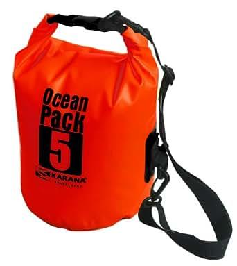 Karana Ocean Dry Pack Day Waterproof Travel Kayak Bag 5 Litre 5L Red