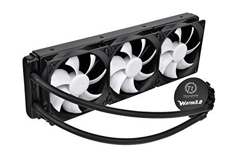 Thermaltake Wasser 3.0Ultimate 360mm AIO Spinnangler Liquid Cooling System CPU-Kühler cl-w007-pl12bl-a schwarz, weiß 360mm -