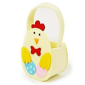 Feutre fantaisie Panier à œufs de Pâques–Crème