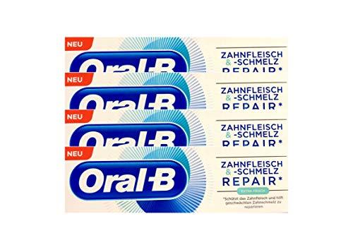4x Oral-B Zahnfleisch und Zahnschmelz Repair extra frisch Zahnpasta 75 ml