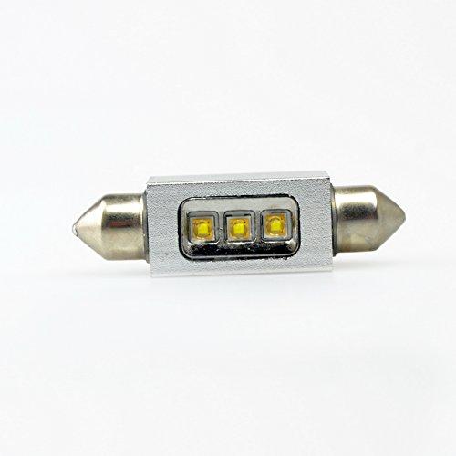 Lumiplux Feston C5W 42mm 12V Blanc LED Ampoule de Voiture 3X5W Haute Puissance Puce (Pack de 2)