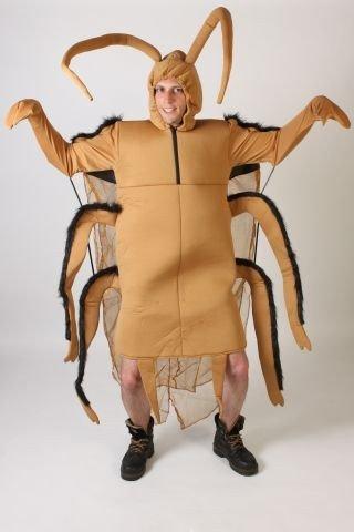 Foxxeo 10005 | Kakerlaken Kostüm für Damen und Herren, Tierkostüm | Gr. S, M, L, XL, XXL,XXXL, XXXXL, Größe:M, (Erwachsene Kostüme Herren Kakerlake)