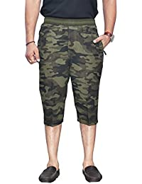 SAPPER Military Camouflage Camo Army Printed 4 Pocket Stylish Capri Three Fourth Shorts For Mens … (XXX-Large)