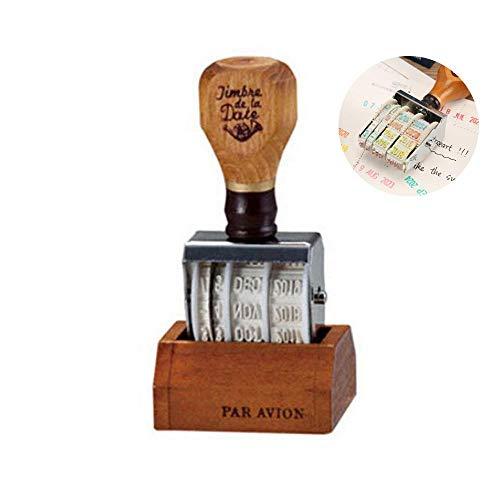 Womdee Timbro datario, Timbro della Data,Personalizzato Alfabeto Inglese Numero Simbolo Scrapbooking Fai da Te cancelleria di Gomma per Le Arti, l'artigianato, l'arredamento per la casa,2018-2028