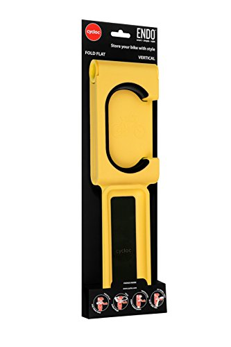 Cycloc Endo Indoor Bicycle Holder Montado en Pared Amarillo - Soporte de Bicicleta