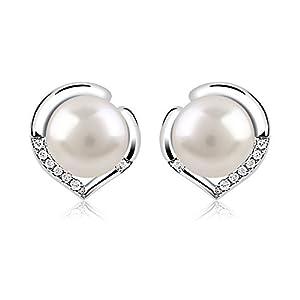 B.Catcher orecchini in argento 925 di buona lega con perla d'acqua dolce 10mm 1 spesavip