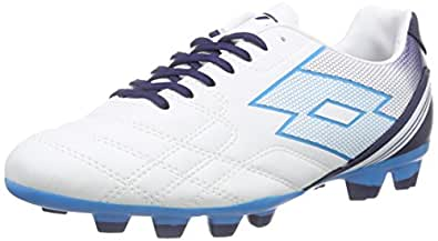 Lotto Spider XI FGT, Chaussures de Football pour Compétition Homme, Multicolore (WHT/blu Bom), 45.5