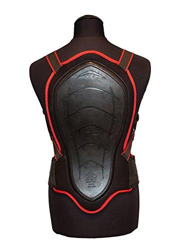 ROLEFF RACEWEAR Nach EN 1621-2:2012 zertifizierter Rückenprotektor Zum Umschnallen, Schwarz, Größe 46 cm