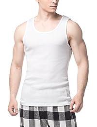 248ae03056144b LAPASA 4 Pack Men s Pure Cotton Vests Bodybuilding Training Gym Basketball  Tank Tops Basic Plain Color