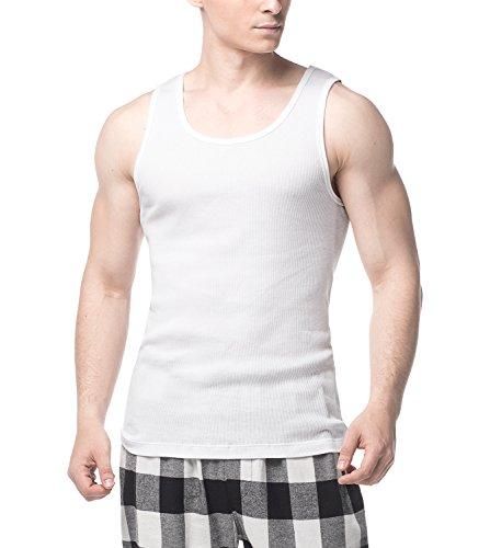 LAPASA 4 Pack Men's Cotton Vest ...