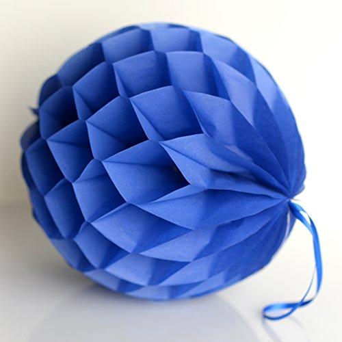 decopompoms Parade blau Gewebe Papier, Kugel, mit Waben 30 cm blau (Blau-waben-gewebe Kugeln)