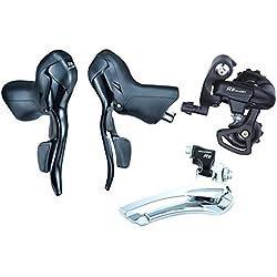 Microshift Road Bike bicicleta sb-r472doble 2x 7velocidad palanca de freno bicicleta desviador grupo compatible con Shimano