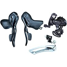 Microshift Road Bike Shifters SB-R472 Double 2X7 Speed Lever Brake Bicycle Derailleur Groupset Compatible for Shimano