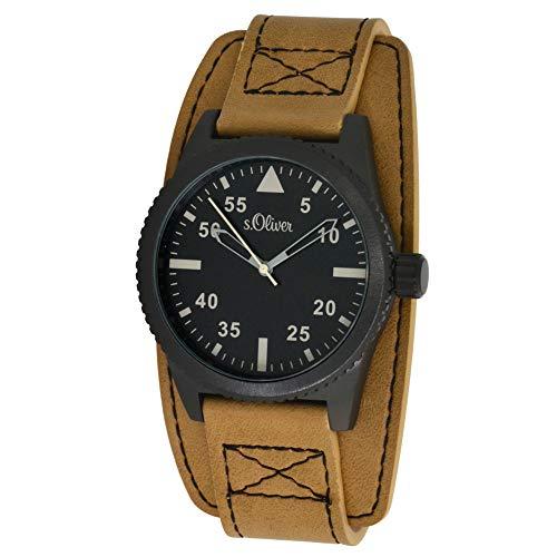 s. Oliver Hombre Reloj de pulsera analógico cuarzo piel So de 15151de LQR