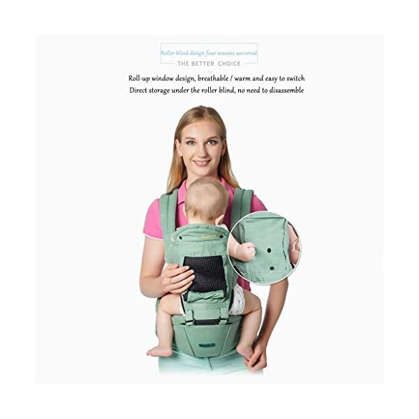 TONGSH Baby Carrier Infant Toddler Baby Backpack in Ergonomic Position 3 Carrying Ways with Large Breathable Mesh Accessories Pockets and Hood (Color : C)  √ TRIANGULAR EFFORT DESIGN: ergonomic baby carrier, distracting the baby's gravity, making the mother's shoulders, waist and abdomen evenly stressed, making the mother easier and more comfortable √ BREATHABLE WIDENED SHOUDER STRAP: flexible shoulder strap, selected with high-quality material, high elastic breathable, widened and thickened shoulder strap, which ensures refreshing and breathable, and enhanced support √ HIGH-QUALITY COTTON MATERIAL: cotton and polyester-cotton fabrics ensure the baby's comfort, breathable, wear-resistant, skin-friendly and comfortable, giving the baby a more comfortable feeling 3