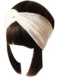 1b871f790d67 Newin Star Femmes Dentelle rétro Turban Twist tête Wrap Bandeau Twisted  noueuse Doux Foulard Cheveux Bande