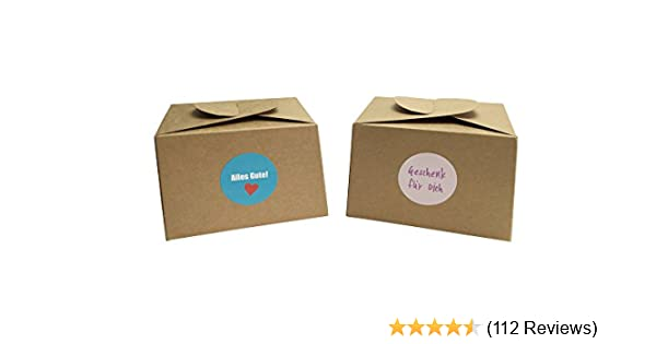 Mannily 20pcs Packed Cookie Paper Box Kraft Favor Box Decorative Treat Box Hand-held Gift Boxes for Parties Holidays White Birthdays Weddings