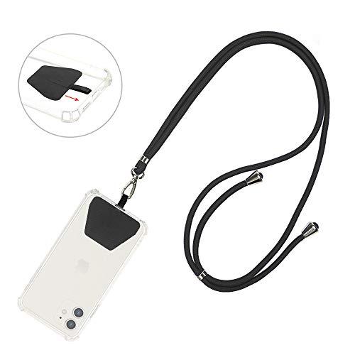 COCASES Universale Handykette, Schlüsselband Halsband zum Umhängen kompatibel mit iPhone/Samsung/Huawei(Schwarz)