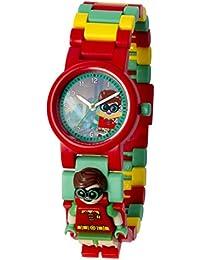 LEGO Batman Movie 8020868 Orologio da polso componibile  per bambini con minifigure Robin | per i bambini | rosso/verde | ragazzo/ragazza | Diametro di 28 cm | Quarzo analogico