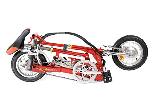 e-4motione4m001 Kids' Electric Bike Red, aluminium frame, 3 speed electronic control on the handlebar back drum and front block brake