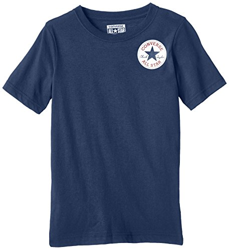Converse Left Chest-T-shirt Bambini e ragazzi,    Blu (Navy) 10-12 anni