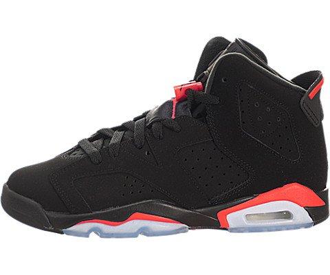 Nike Jungen Air Jordan 6 Retro BG Turnschuhe, Schwarz, Rot (Black/Infrared 23), 38 1/2 EU