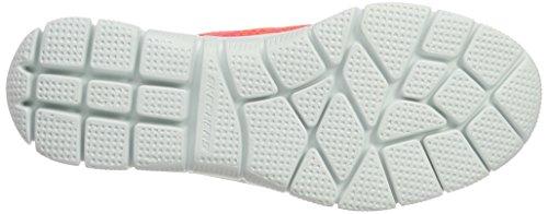 Skechers Empire-Inside Look, Scarpe da Ginnastica Basse Donna Arancione (Orhp)