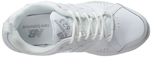 New Balance WX623AB3 Large Cuir Baskets White/Silver