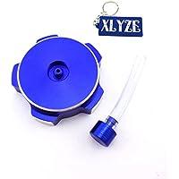 XLYZE Blue Aluminum Gas Gasolina tapa del tanque de combustible para 110cc 125cc 140cc 150cc 160cc CRF50 XR50 KLX110 SSR Pit Dirt Bike
