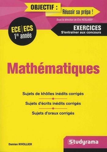 Mathématiques ECE/ECS première année