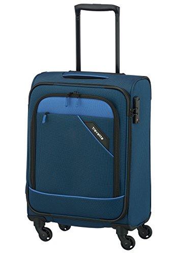 Travelite DERBY 4-Rad Trolley S, Blau, 87547-20 Bagaglio a mano, 55 cm, 41 liters, Blu (Blau)