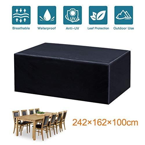 Mutsitaz Funda para Muebles de Jardín Impermeable Oxford Muebles de Jardin Cubierta, Tamaño 242 X 162 X 100 cm