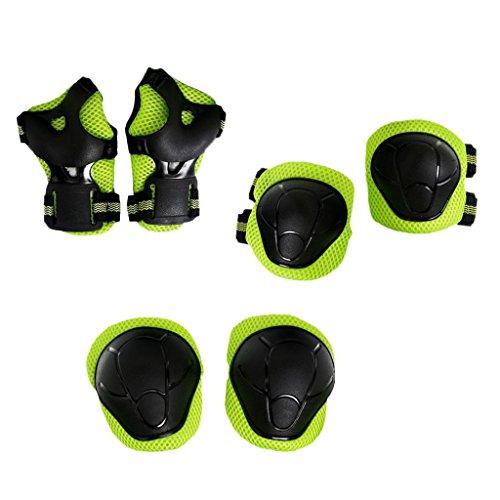 Sharplace Kinder Schonerset Protektoren Set Schützer für Radfahren Inlineskating Skateboard, 6 Farben Wählbar - Grün