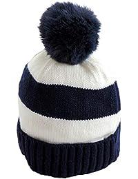 Cappello Invernale Neonato 0-12 Mesi MOD. Strisce con PON PON Berretto  Bambino Bimbo fc26f5a099d6