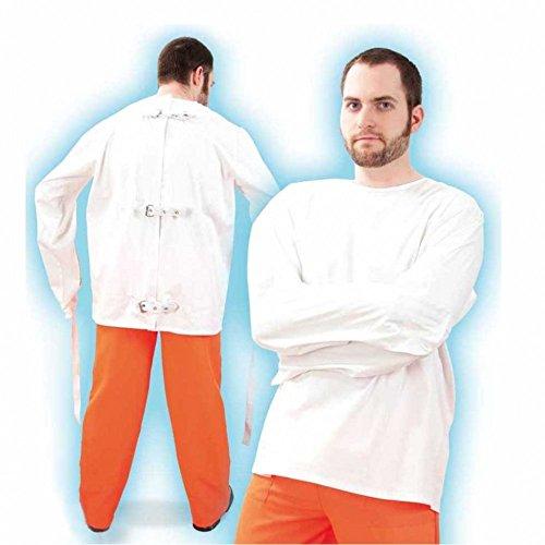 Preisvergleich Produktbild Herren-Kostüm Zwangsjacke,  weiß,  Gr. XXL
