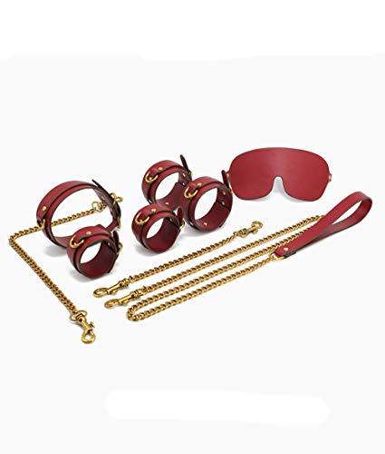 Lhlh Fesseln Augenbinden Peitsche Dildo Silikon Material Bondage Ringe Frauen Sex Toys Fetisch Erwachsene Spielzeuge Für Erwachsene Spiele Flirt Supplies Bundle Handschellen Fußkettchen Rolle