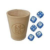Teepe-22251-FC-Schalke-04-Wrfelbecher-mit-6-Wrfel Teepe 22251 – FC Schalke 04 Würfelbecher mit 6 Würfel -