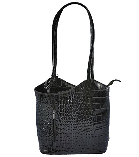 CASPAR TL721 2 in 1 echt Leder Rucksack Handtasche Schultertasche Daypack
