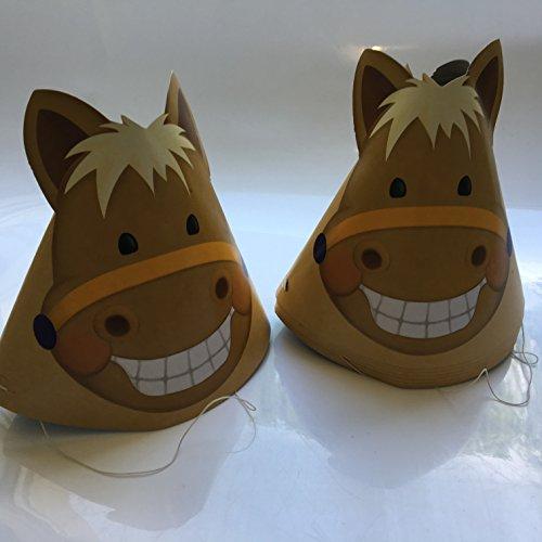 Für Kostüm Ponys Pferde Und - 8 Partyhütchen * SÜSSES PONY * für Kindergeburtstag oder Mottoparty // Verkleidung Kostüm Pferde Horse