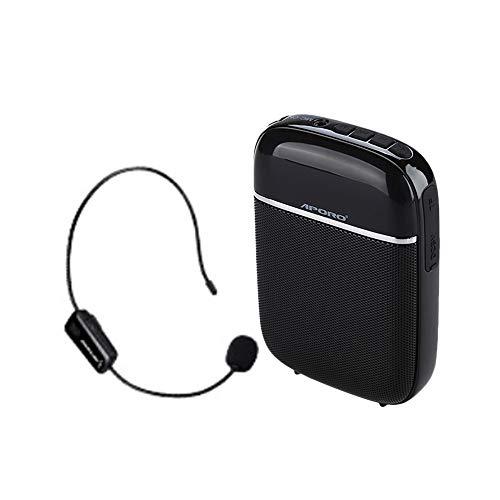 Aporo T2 Amplificatore Vocale Wireless Microfono Altoparlante di Voce da Cintura Ricaricabili Portatile Speaker Auricolare Regolabile per Insegnanti
