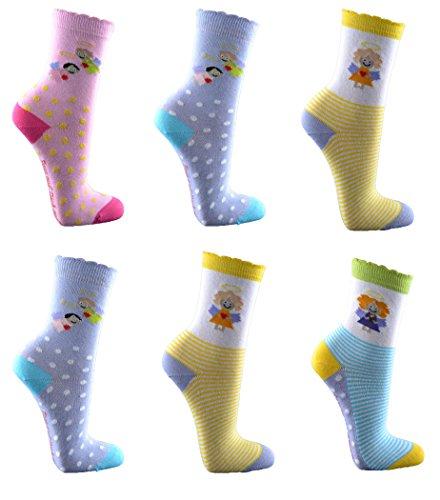 Kinder Socken,6 (Socken Trachten Rosa)