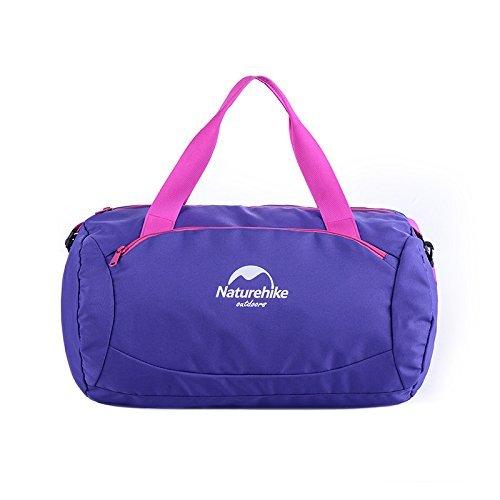 Naturehike 20L trockene nasse Trennungs-Sport-Beutel-wasserdichter Schwimmen-Beutel-großer Kapazitäts-Aufbewahrungsbeutel Purple